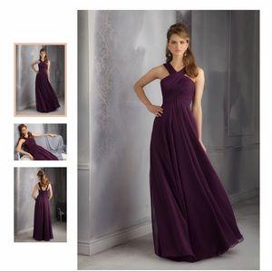 Morilee Bridesmaid Dress with Crossed Neckline